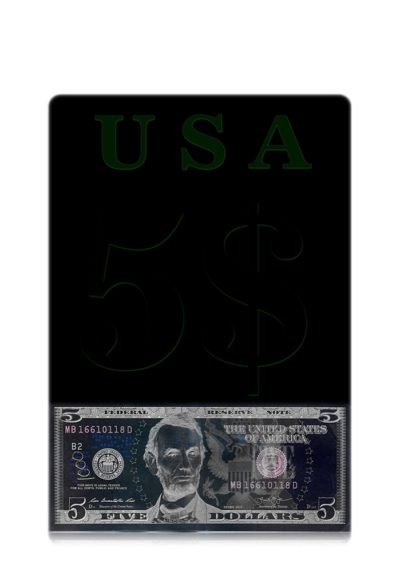The United States of America Five Dollars Note