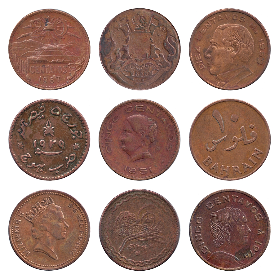Mixed Lot of East India Princely State & International Coins
