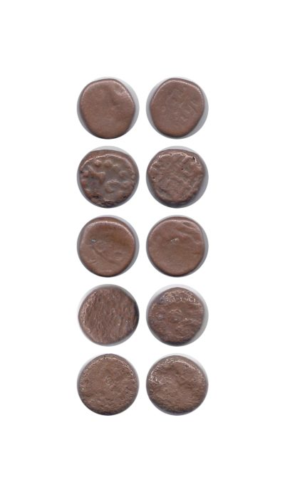 RARE MUGAL OLD COPPER COINS – DAM – INDIA