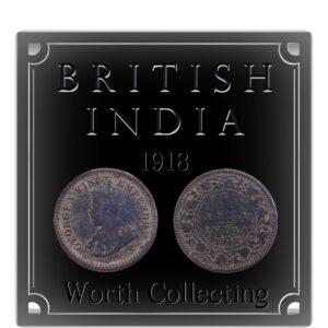 1918 1/12 Twelve Anna British India King George V Calcutta Mint - Best Buy