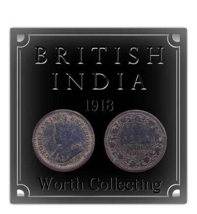 1918  1/12 Twelve Anna British India King George V Calcutta Mint - Best Buy