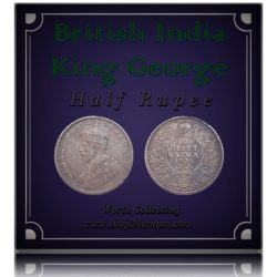 1923  1/2 Half Rupee British India King George V Bombay Mint - RARE