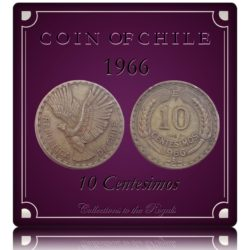 1966  10 Centesimos Coin of Chile - Worth Collecting