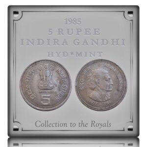 1985 5 Rupee Indira GandhiCommemorative coin Hyderabad Mint - Best Buy