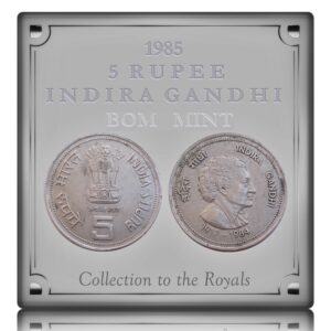 1985  5 Rupee Indira Gandhi Commemorative coin Bombay Mint - Worth Collecting