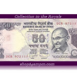 "UNC 50 Rupee Note – Sig D. Subbarao– Ending with Fancy Number ""972111"" – RARE"