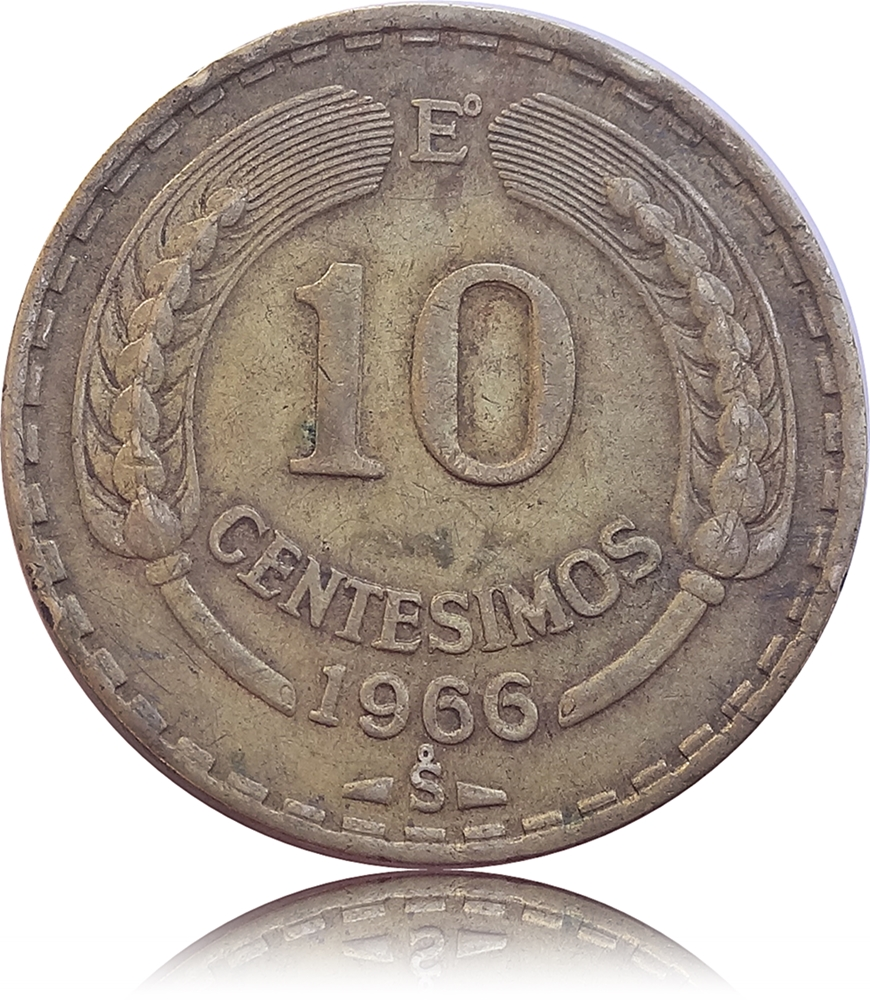 1966 10 Centesimos Coin Of Chile Worth Collecting Sale Of Old Coins Amp Articles