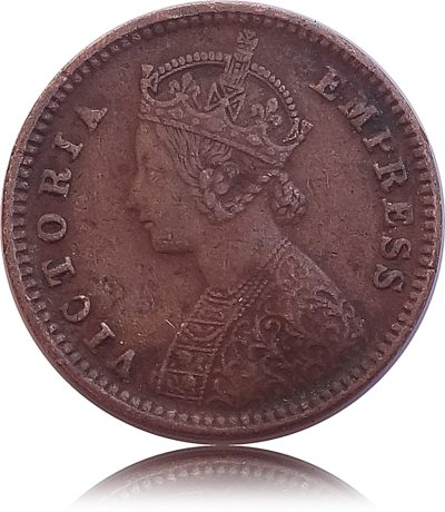 "1886 1/12 Twelve Anna British India Queen Victoria Empress - ""Error Coin"" - Best Buy"