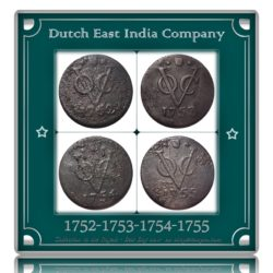 1752 1753 1754 1755 Dutch East India Company - VOC - UGET  - 4 Coins