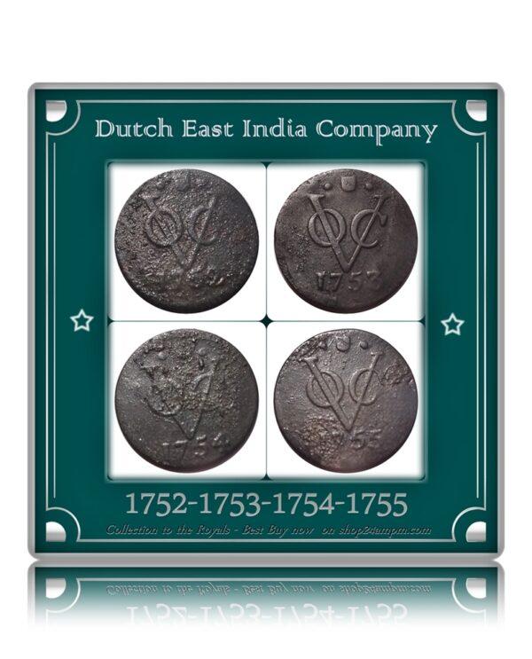 1752 1753 1754 1755 Dutch East India Company - VOC - UGET - 4 Coins