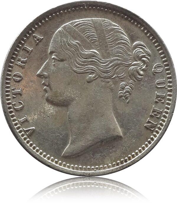 1840 1/2 Half Rupee Queen Victoria British India Rare - B Raised w.w. incused Worth Collecting