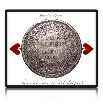 1862 1 Rupee Queen Victoria Bombay Mint - III/0/0