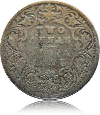 1875 2 Annas Coin British India Queen Victoria - Worth Buy