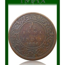 1886 1/12 Twelve Anna British India Victoria Empress – Best Buy