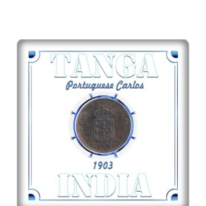 Tanga India - Portuguese Carlos 1903 1/12 Tanga - Worth Collecting - Best Buy