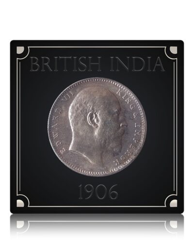 1906 1 Rupee Silver Coin British India King Edward VII BombayMint – RARE