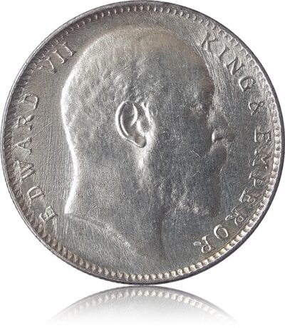 1907  1 Rupee Silver Coin British India King Edward VII Calcutta Mint – RARE