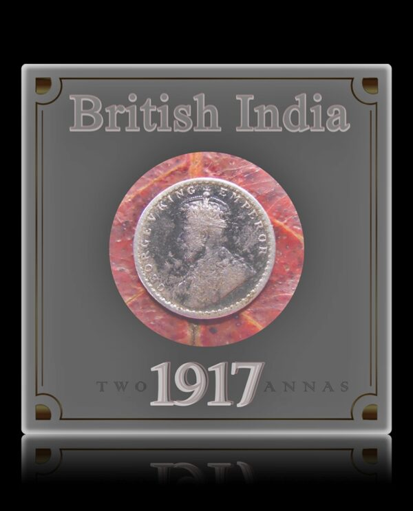 1917 2 Two Annas Coin King George V Calcutta Mint - Best Buy