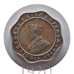 1920 4 Annas King George V Bombay Mint - Worth Buy