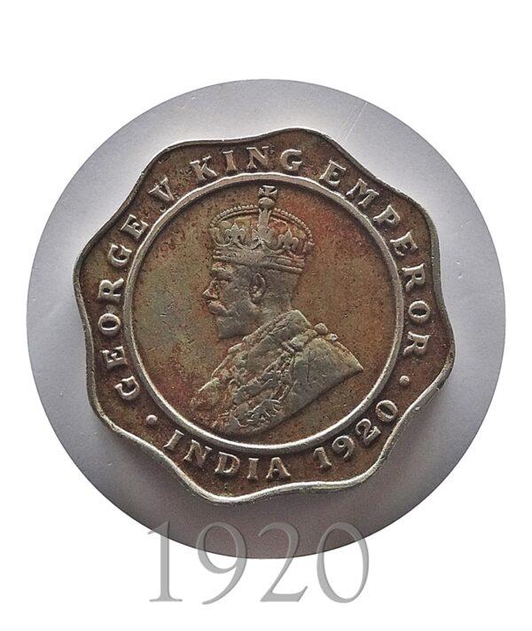 1920 4 Annas King George V Bombay Mint - Worth Buy