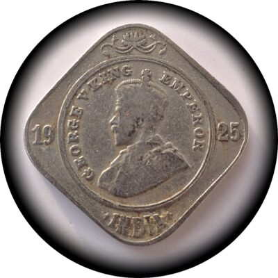 1925  2 Annas Coin British India King George V Bombay Mint - Best Buy