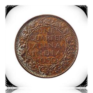 1939 1/4 Quarter Anna British India King George VI Bombay Mint - Best Buy