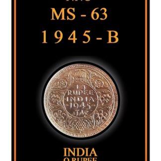 1945 Quarter Rupee