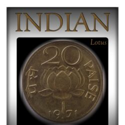 1971 20 Paise Republic India Lotus Nickel Brass Coin – Bombay Mint