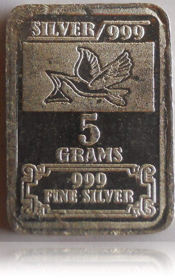 """Fine Silver Bar Coin - .999 Grade """" TULSHI """" Best Old Silver 5 gms - Worth Buy"""