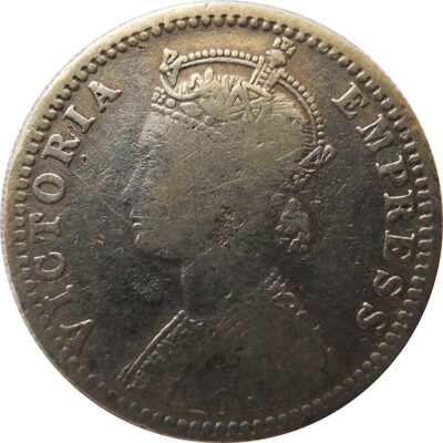1897 Quarter Rupee Victoria Empress