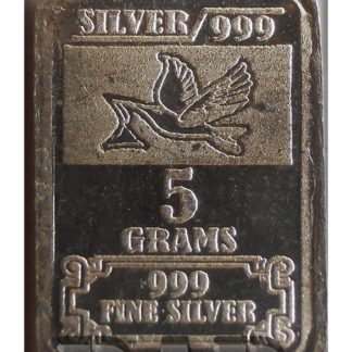 "Fine Silver Bar Coin - .999 Grade "" TULSHI "" Best Old Silver 5 gms - Worth Buy"