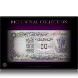F2 50 Rupee UNC Note Super Fancy Ending Number – Sig K.R.Puri – Without Flag