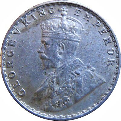 1928 1/4 Quarter Rupee King George V Bombay Mint - Worth Buy