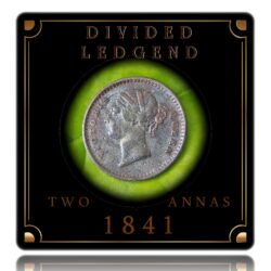 1841 2 Annas Divided Legend Victoria Queen Calcutta Mint - Best Buy