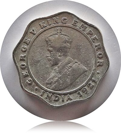 1921 4 Annas King George V Bombay Mint - Royals Collection - Worth Storing