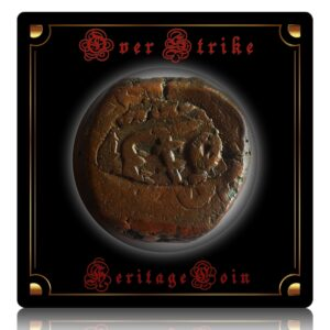 Old Mugal Sultanate Over strike Copper Coin - Rarest Indian Heritage Coin - Worth Storing