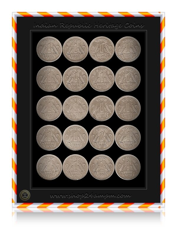 1975 1976 1977 1978 1979 1 Rupee Coin Big Dabu Republic India Bombay Mint
