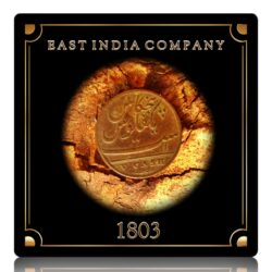 1803 V(5) Cash Madras Presidency British East India Company Copper Coin - Worth Buy