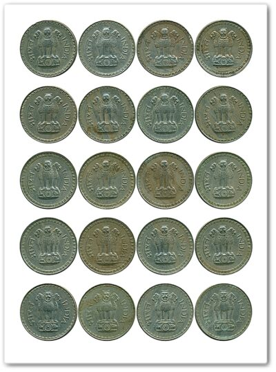 1975 1976 1977 1978 1979 1 Rupee Coin Big Dabu Republic India Bombay Mint