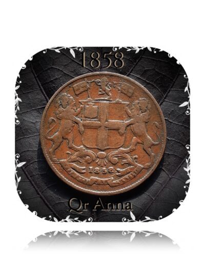 1858 1/4 Quarter Anna east India Company - Worth Buy