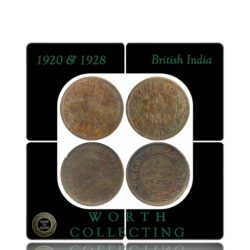 1920 1928 1/2 Half Pice British India George V King Emperor Calcutta Mints - Worth Buy