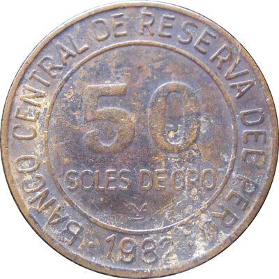 1982 Coin Peru 50 Soles De Oro - Best Buy