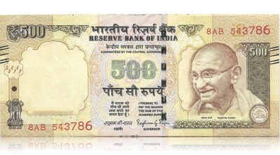 2015 Old India 500 Rupee Note with lucky ending number 786 - Worth Collecting sig by Raghuram Rajan