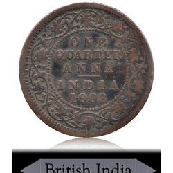 1908 1/4 Anna King Edward VII Emperor - Calcutta Mint Worth Buy