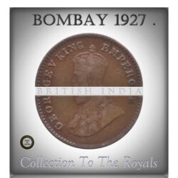 1927  1/12 Twelve Anna British India King George V - Bombay Mint