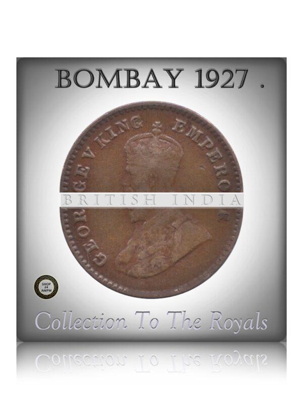 1927 1/12 Twelve Anna British India King George V - Bombay Mint