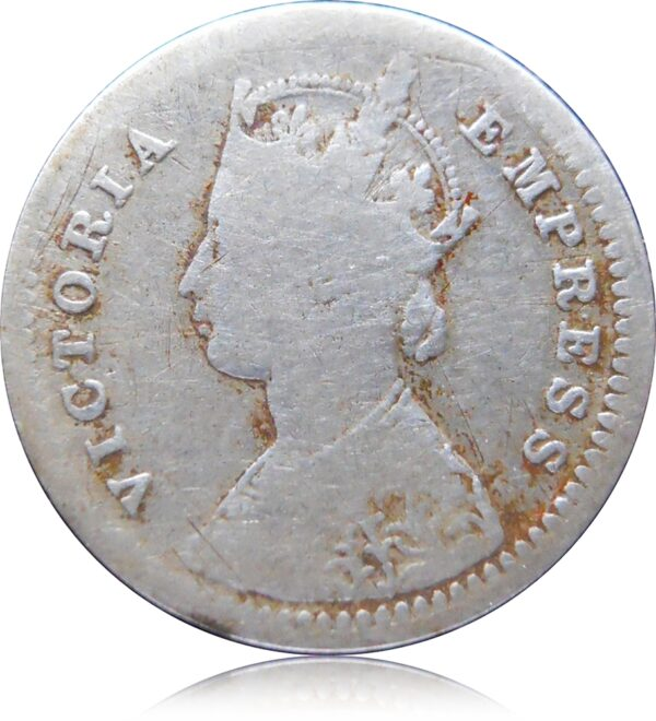 1881 Two Annas Victoria Empress Bombay Mint