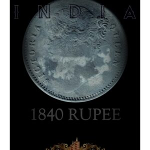 18401 Rupee Silver Coin Divided Legend East India Queen Victoria - Worth Buy