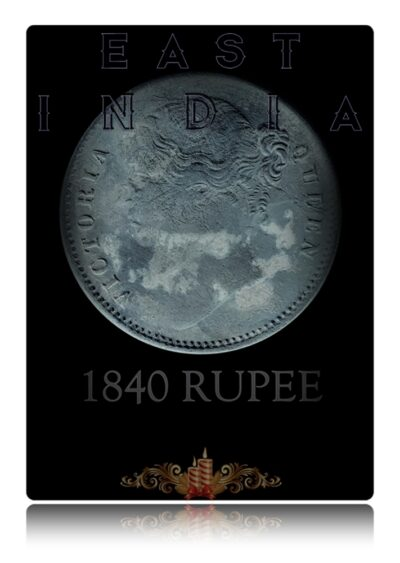 1840 1 Rupee Silver Coin Divided Legend  East India Queen Victoria - Worth Buy