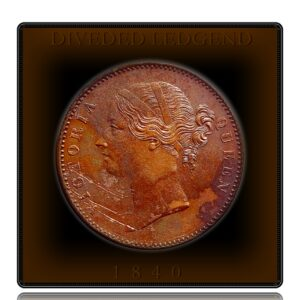 1840 Divided Legend 1 Rupee Coin British India Queen Victoria - Rarest Punch Mark - Worth Buy